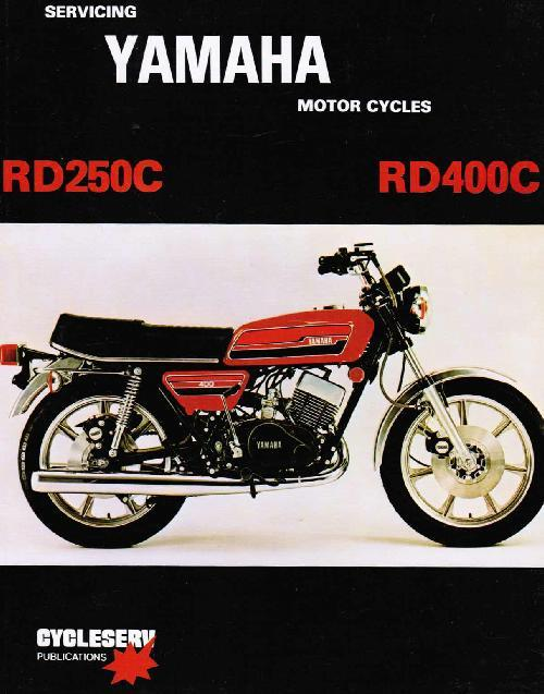 Yamaha RD250C - 400C Twins up to 1979 Owners Service & Repair Manual - Front Cover
