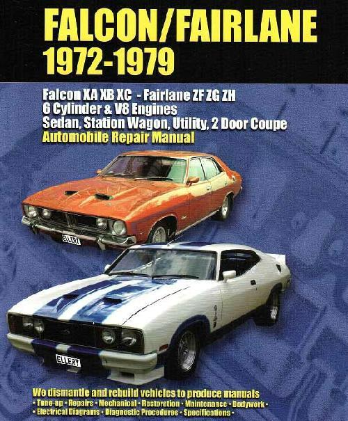 Ford Falcon XA, XB & XC Fairlane ZF, ZG & ZH 1972 - 1979 - Front Cover