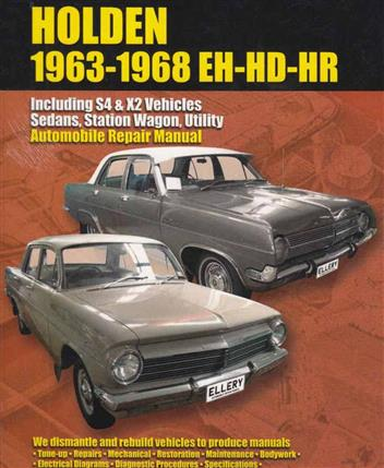 Holden EH, HD & HR 1963 - 1968 Ellery Automobile Repair Manual - Front Cover