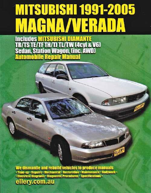 Mitsubishi Magna/Verada 1991-2005 Automobile Repair Manual - Front Cover