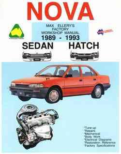 Holden Nova 1989 - 1993 Owners Service & Repair Manual - Front Cover