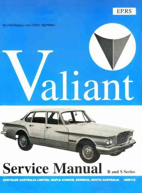 Chrysler Valiant VR & VS 1961 - 1963 Repair Manual - Front Cover