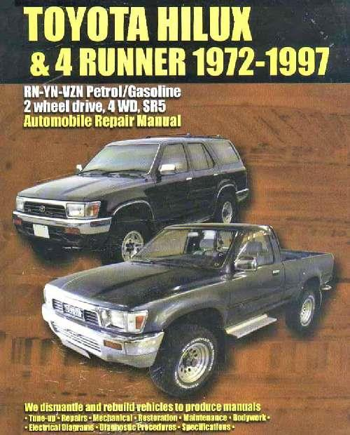 Toyota Hilux/4Runner Petrol with EFI 1972 - 1997 Owners Service & Repair Manual