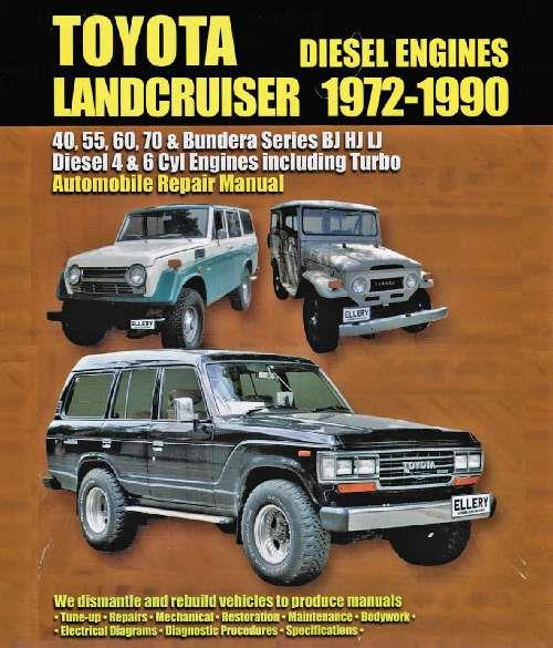 Toyota Landcruiser Diesel BJ, HJ & LJ 1972 - 1990 Owners Service & Repair Manual