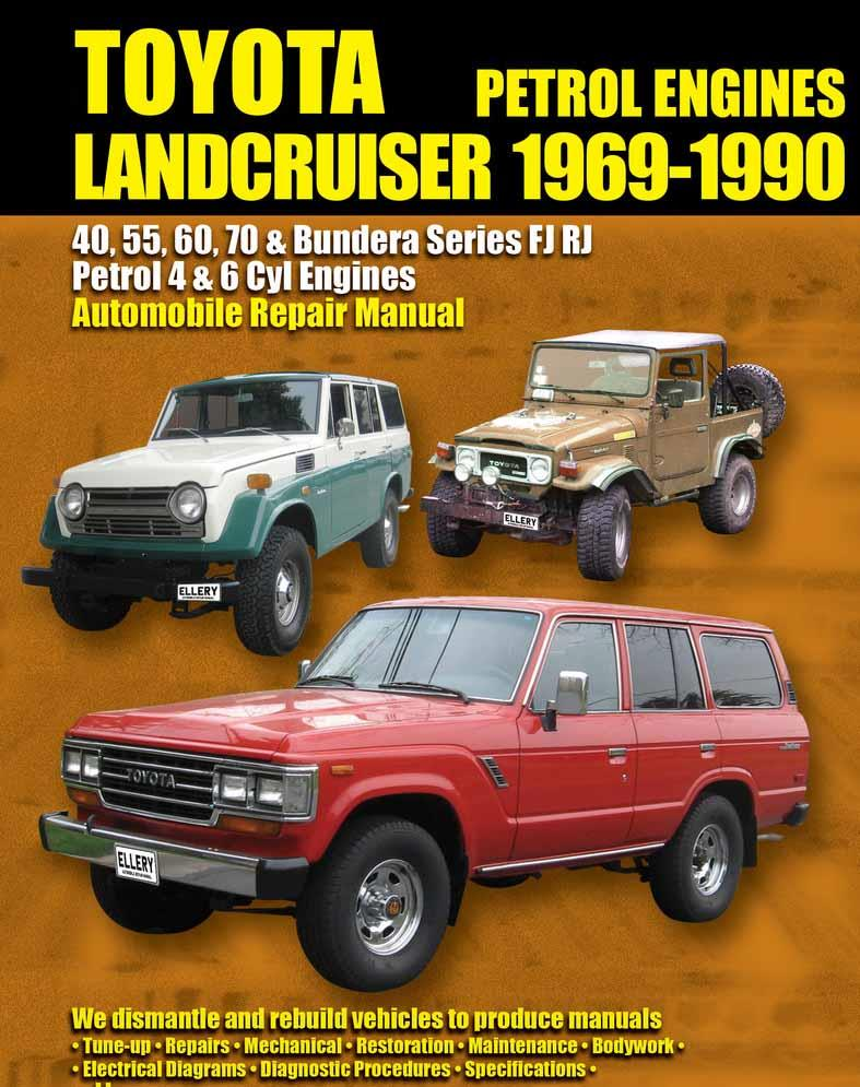 Toyota Landcruiser FJ & RJ Petrol 1969 - 1990 Owners Service & Repair Manual