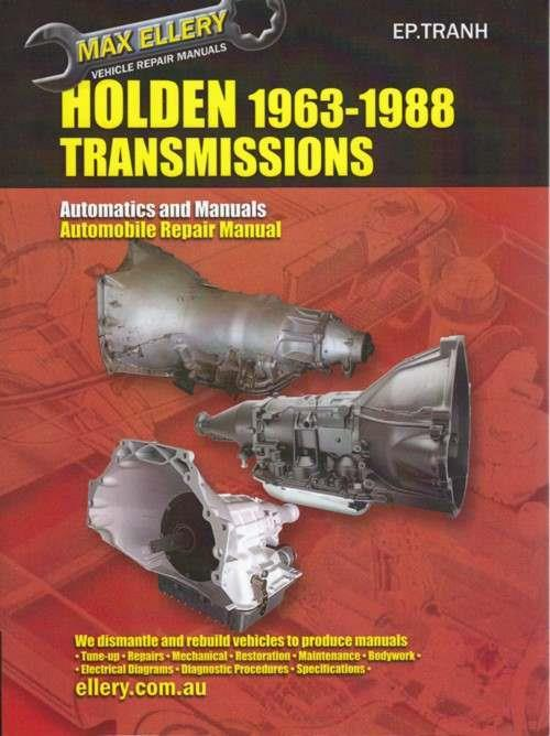 Holden Automatic & Manual Transmissions 1963 - 1988 Repair Manual - Front Cover