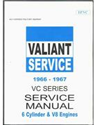 Chrysler Valiant VC Series 1966 - 1967 Service Manual - Front Cover