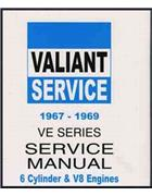 Chrysler Valiant VE 1967 - 1969 Owners Service Manual - Front Cover