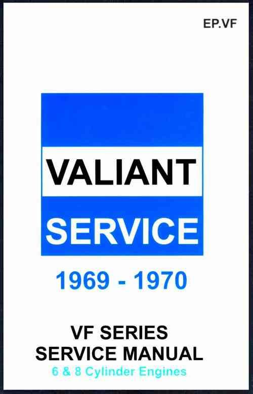 Chrysler Valiant VF Series 1969 - 1970 Owners Service Manual - Front Cover