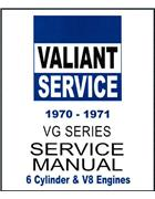 Chrysler Valiant VG Series 1970 - 1971 Owners Service Manual