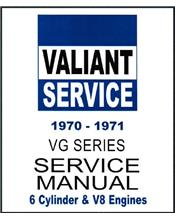 Chrysler Valiant VG Series 1970 - 1971 Service Manual