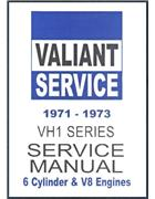 Chrysler Valiant 1971 - 1973 VH Service Repair Manual H Series : Book 1 - Front Cover