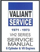 Chrysler Valiant VH2 Series 1971 - 1973 Service Manual : Book 2 - Front Cover