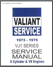Chrysler Valiant VJ Series 1973 - 1975 Service Manual : Book 1