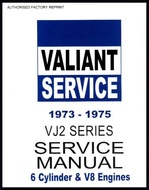 Chrysler Valiant 1973 - 1975 VJ Series Service Manual : Book 2