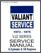 Chrysler Valiant 1973 - 1975 VJ Series Service Manual : Book 2 - Front Cover