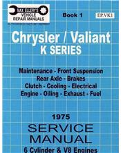 Chrysler Valiant VK Series Service Manual : Book 1