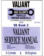 Chrysler Valiant VK Series Owners Service Manual : Book 2 - Front Cover