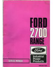 Ford 2700 Range Industrial Manual