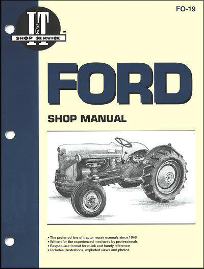 Ford New Holland 1953 - 1954 Farm Tractor Owners Service & Repair Manual - Front Cover
