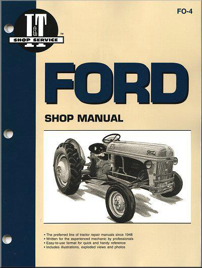 Ford New Holland Farm Tractor 1939 - 1952 Owners Service & Repair Manual - Front Cover