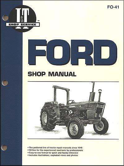 Ford New Holland Farm Tractor Owners Service & Repair Manual - Front Cover