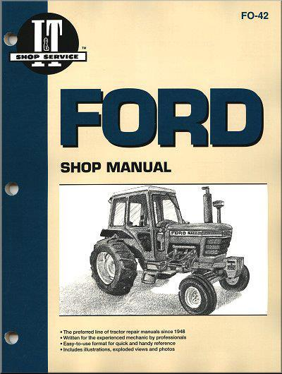 Ford New Holland Petrol & Diesel Farm Tractor Owners Service & Repair Manual - Front Cover