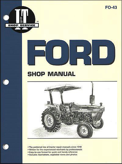 Ford New Holland 1983 - 1990 Farm Tractor Owners Service & Repair Manual - Front Cover