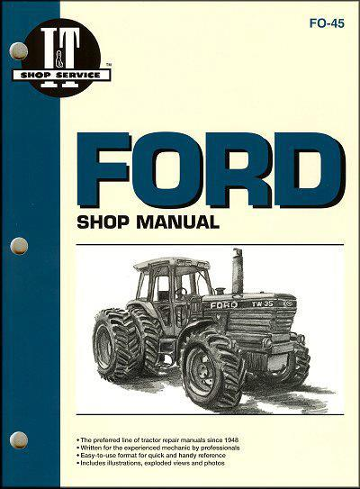 Ford New Holland TW Farm Tractor Owners Service & Repair Manual - Front Cover