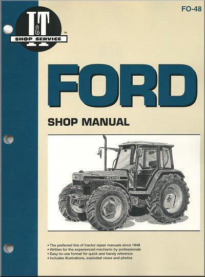 Ford New Holland 1991 - 1995 Farm Tractor Owners Service & Repair Manual - Front Cover