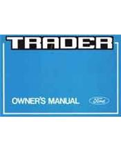 Ford Trader 1987 Owners Handbook : Factory Publication