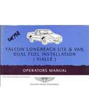 Ford Falcon XH UTE & VAN LPG 1996 Factory Supplement Owners Handbook
