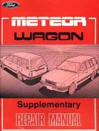 Ford Meteor GC 1985 Wagon Factory Repair Manual Supplement - Front Cover