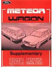 Ford Meteor GC 1985 Wagon Factory Repair Manual Supplement