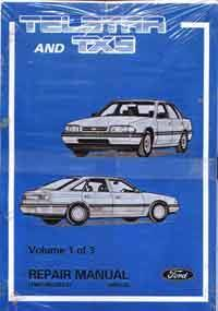 Ford Telstar AT & TX5 Including Turbo 1987-1990 Factory Repair Manual - Front Cover