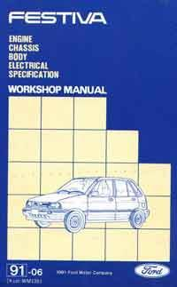 Ford Festiva WA 1991 - 1994 Factory Repair Manual - Front Cover