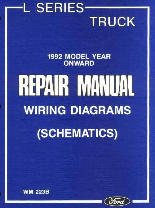 Ford Truck L Series 1992 Onward Wiring Diagrams (Schematics) - Front Cover
