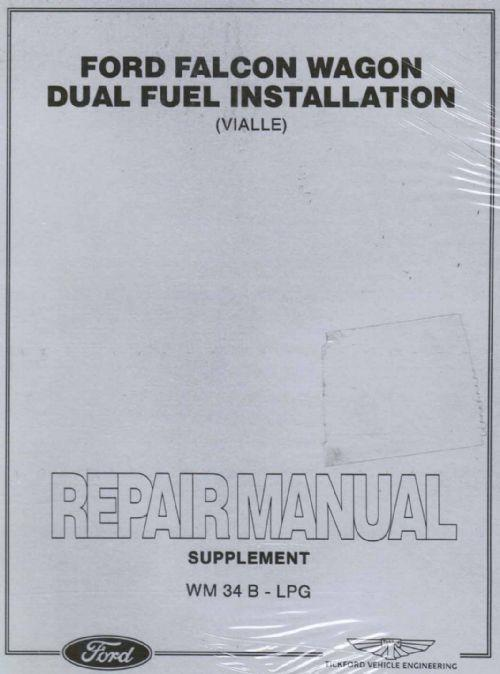Ford Falcon EF Wagon LPG factory Repair Manual Supplement - Front Cover
