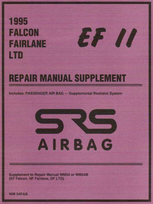 Ford Falcon / Fairlane / LTD 1995 Factory Manual Supplement - Front Cover