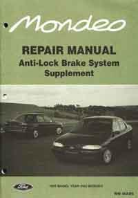 Ford Mondeo HA ABS Factory Repair Manual Supplement - Front Cover