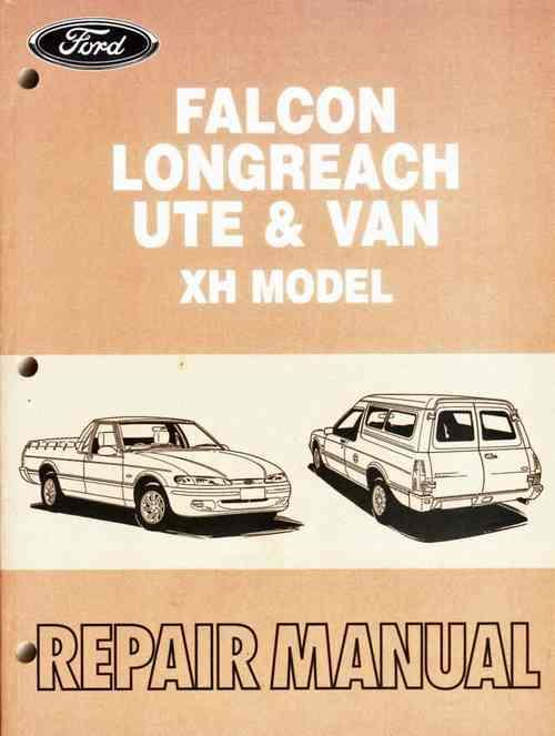 Ford Falcon Longreach Ute & Van XH Models 1996 - 1999 Repair Manual - Front Cover