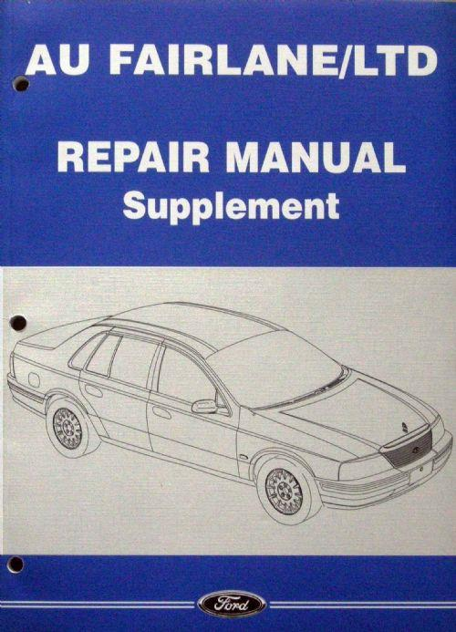 Ford Falcon / Fairlane / LTD AU Factory Repair Manual Supplement - Front Cover