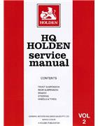 Holden HQ 1971 - 1974 Service Manual : Volume 2