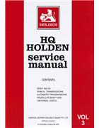 Holden HQ 1971 - 1974 Service Manual : Volume 3
