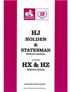 Holden HJ & Statesman 1974 - 1980 Service Manual - Front Cover