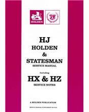 Holden HJ & Statesman 1974 - 1980 Service Manual