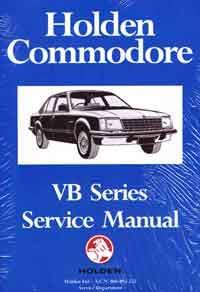 Holden Commodore VB Series 1978 - 1980 Factory Service Manual - Front Cover