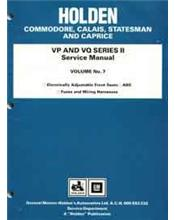 Holden Commodore VP & VQ Series II 1991 - 1993 Factory Service Manual Volume 7