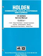 Holden Commodore VR Series 1993 - 1995 Factory Workshop Manual : Volume 5