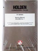 Holden Commodore/Calais VT 1997 Factory Service Manual : Volume 7 - Front Cover